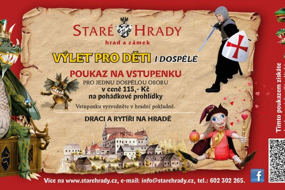 Castle and Chateau Stare Hrady - free ticket