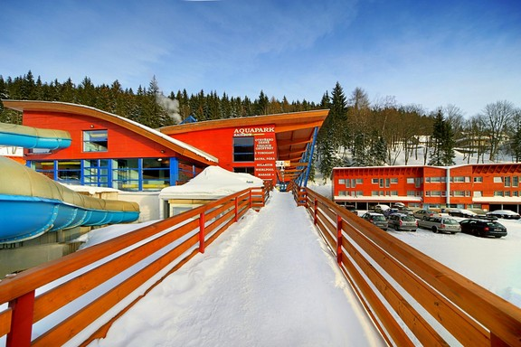 Winter holiday - ski in ski out hotel with aquapark and wellness